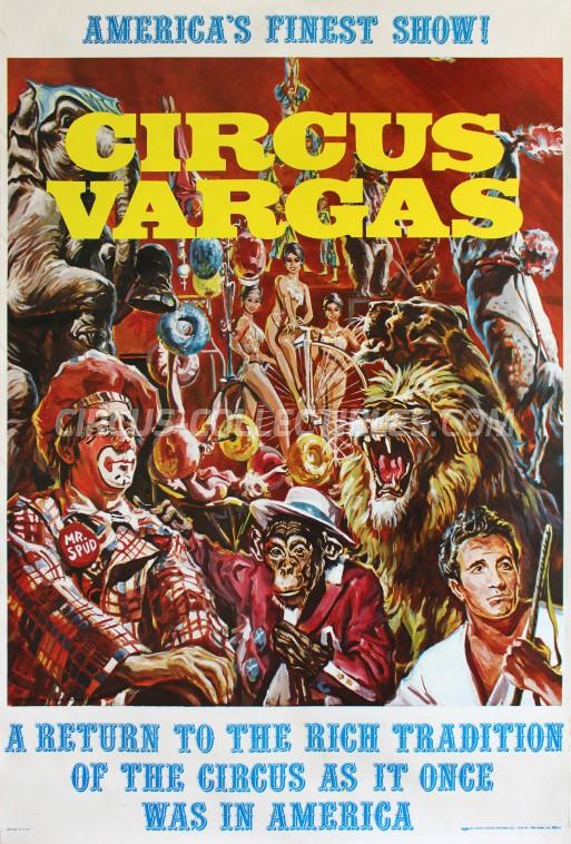 Vargas Circus Poster - USA, 1974