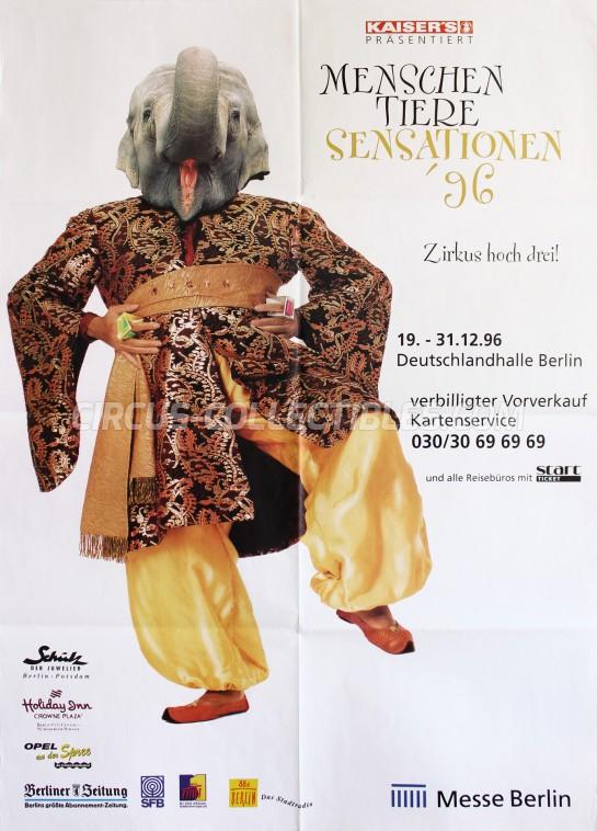 Menschen Tiere Sensationen Circus Poster - Germany, 1996
