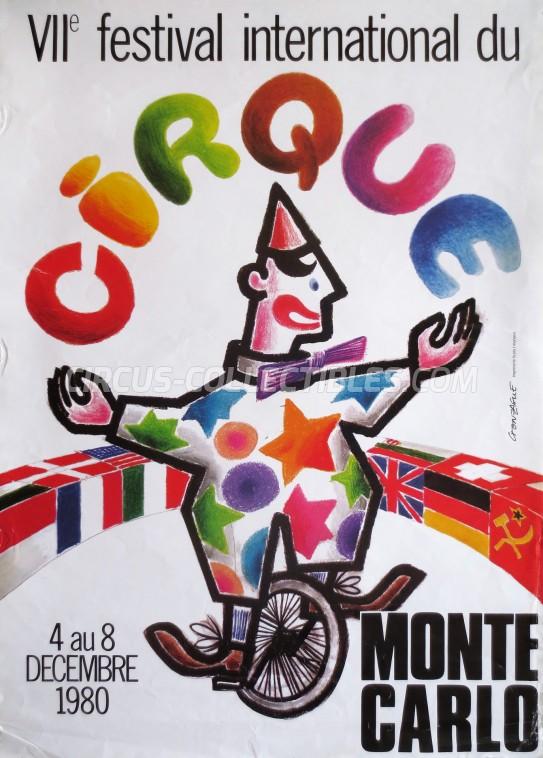 Festival International du Cirque de Monte-Carlo Circus Poster - Monaco, 1980