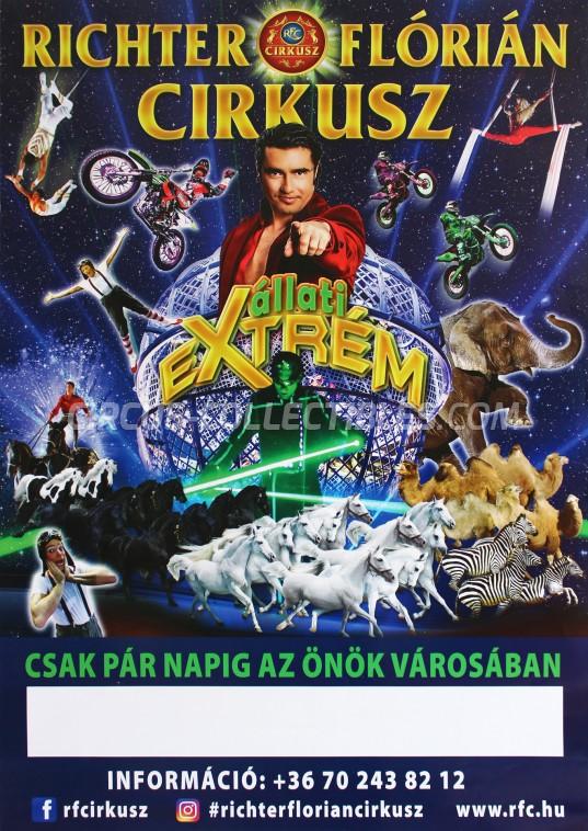 Richter Florian Cirkusz Circus Poster - Hungary, 2017