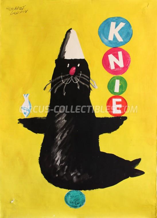 Knie Circus Poster - Switzerland, 1964