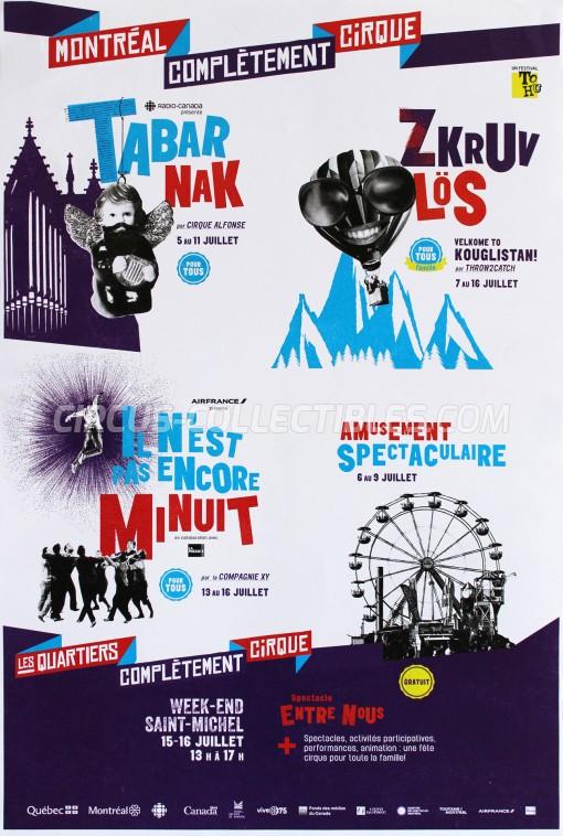 Montréal Complètement Cirque Circus Poster - Canada, 2017