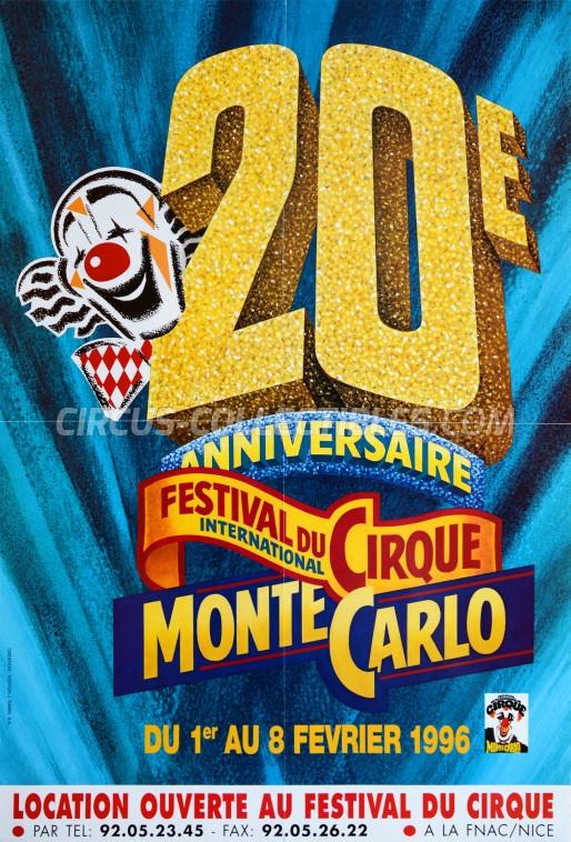 Festival International du Cirque de Monte-Carlo Circus Poster - Monaco, 1996