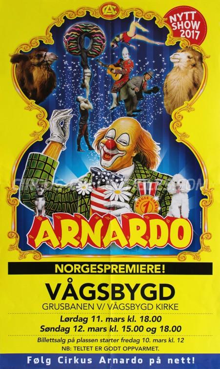Arnardo Circus Poster - Norway, 2017