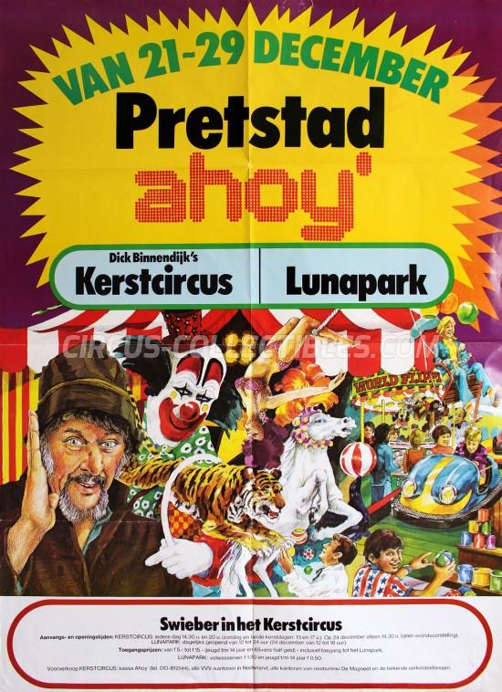 Kerstcircus Circus Poster - Netherlands, 1974