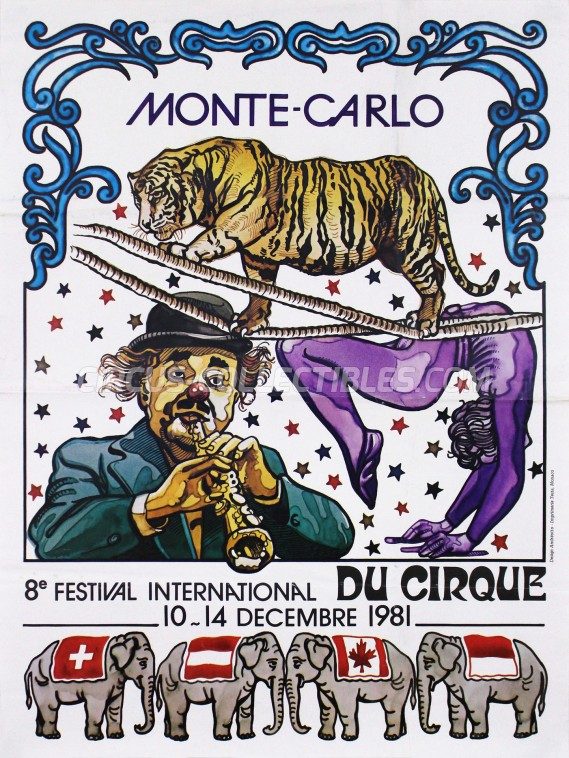 Festival International du Cirque de Monte-Carlo Circus Poster - Monaco, 1981