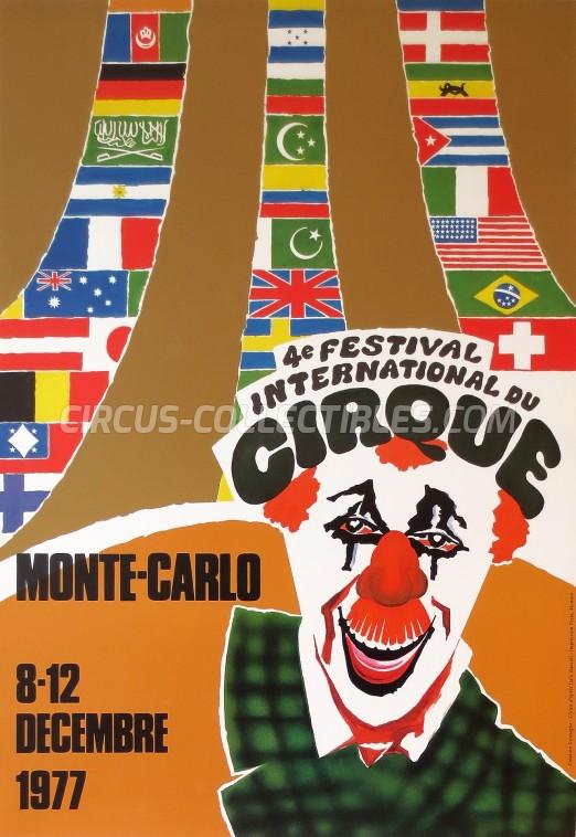 Festival International du Cirque de Monte-Carlo Circus Poster - Monaco, 1977
