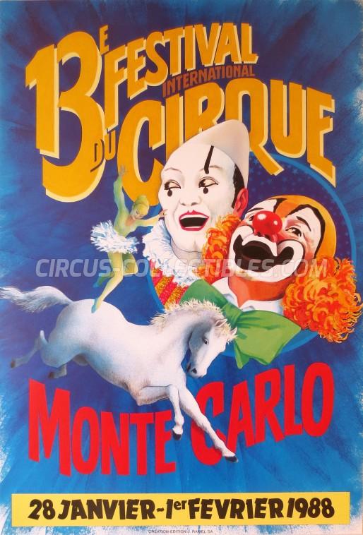 Festival International du Cirque de Monte-Carlo Circus Poster - Monaco, 1988