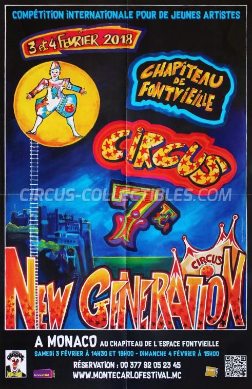 Festival International du Cirque de Monte-Carlo Circus Poster - Monaco, 2018