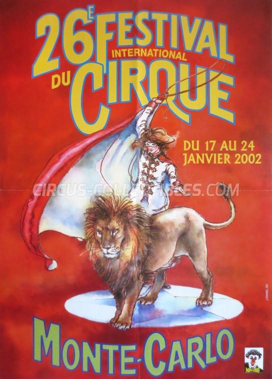 Festival International du Cirque de Monte-Carlo Circus Poster - Monaco, 2002