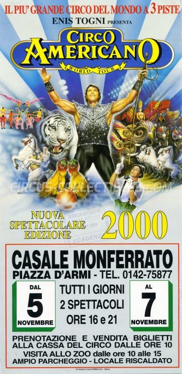 American Circus Circus Poster - Italy, 1999