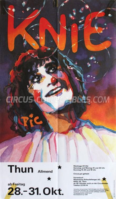 Knie Circus Poster - Switzerland, 1983