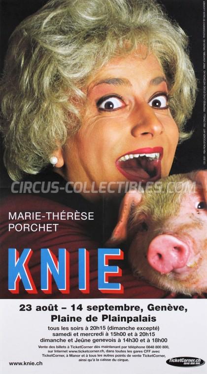 Knie Circus Poster - Switzerland, 2001