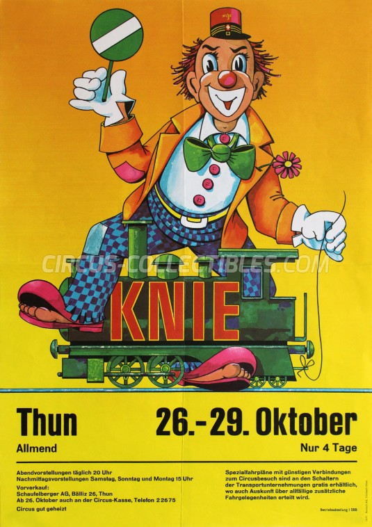 Knie Circus Poster - Switzerland, 1971