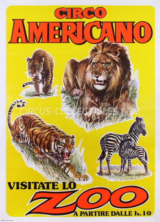 American Circus Circus Poster - Italy, 1984