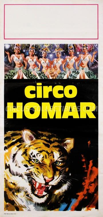Homar Circus Poster - Italy, 1974