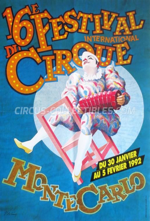 Festival International du Cirque de Monte-Carlo Circus Poster - Monaco, 1992