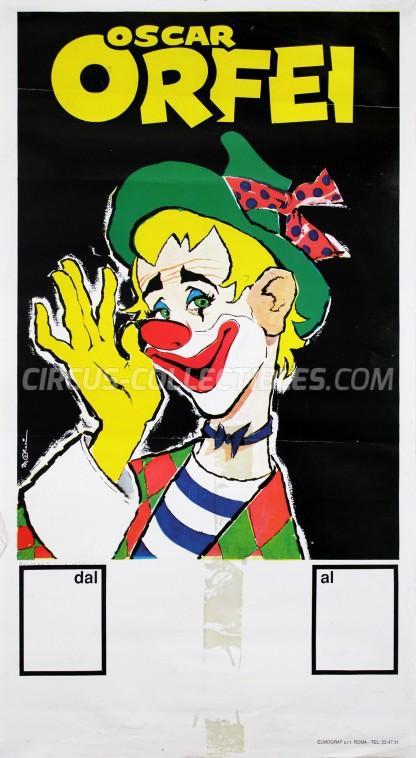 Oscar Orfei Circus Poster - Italy, 0