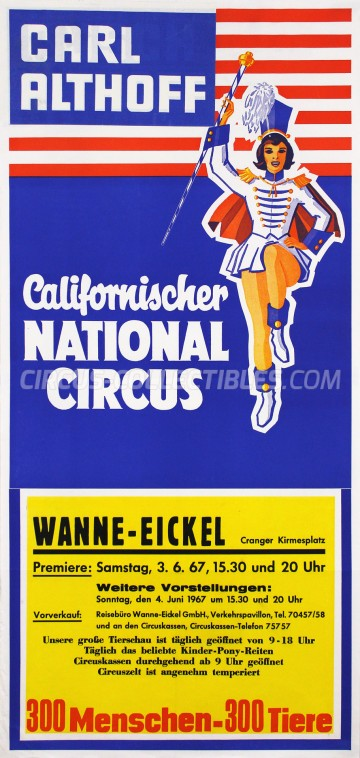 Carl Althoff Circus Poster - Germany, 1967
