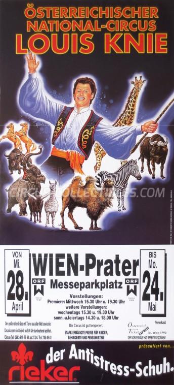 Louis Knie Circus Poster - Austria, 1999