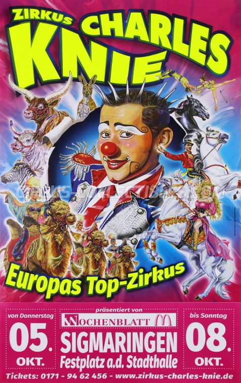 Charles Knie Circus Poster - Germany, 2017