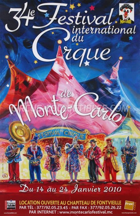 Festival International du Cirque de Monte-Carlo Circus Poster - Monaco, 2010