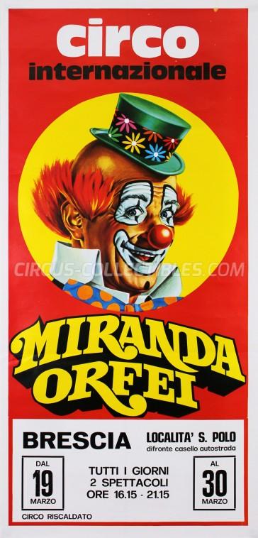 Miranda Orfei Circus Poster - Italy, 0