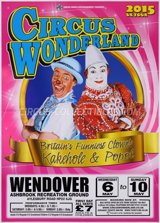 Wonderland (UK) Circus Poster - England, 2015