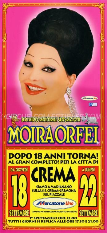 Moira Orfei Circus Poster - Italy, 2008