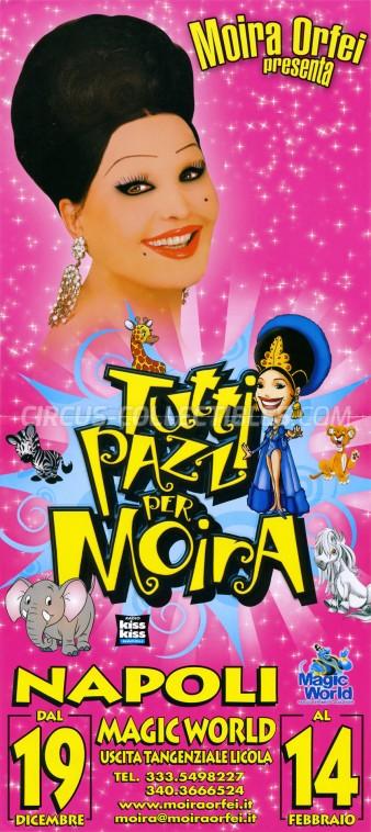 Moira Orfei Circus Poster - Italy, 2009