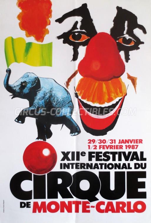 Festival International du Cirque de Monte-Carlo Circus Poster - Monaco, 1987