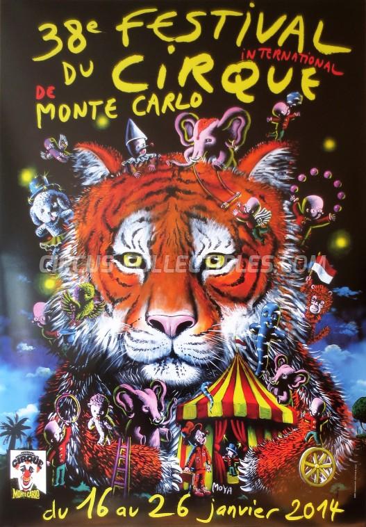 Festival International du Cirque de Monte-Carlo Circus Poster - Monaco, 2014