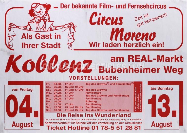 Moreno (DE) Circus Poster - Germany, 2006