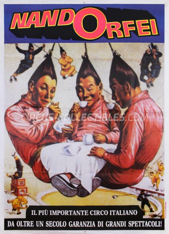 Nando Orfei Circus Poster - Italy, 1985