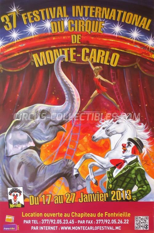 Festival International du Cirque de Monte-Carlo Circus Poster - Monaco, 2013