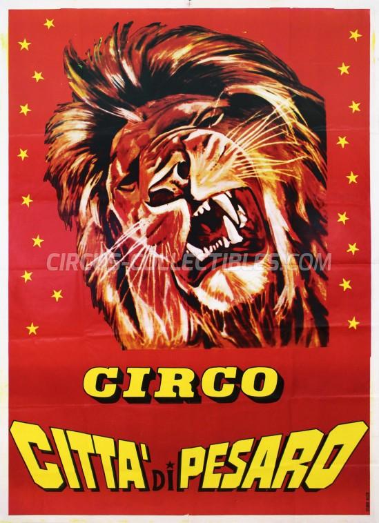 Citta' di Pesaro Circus Poster - Italy, 1980