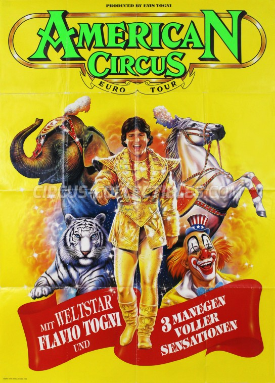American Circus Circus Poster - Italy, 1993