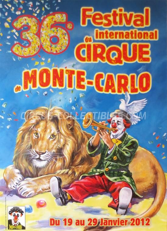 Festival International du Cirque de Monte-Carlo Circus Poster - Monaco, 2012