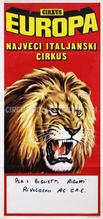 Europa Circus Poster - Italy, 1977