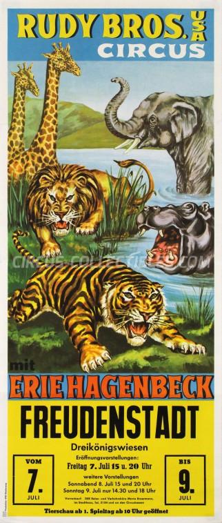 Rudy Bros Circus Poster - Germany, 1967