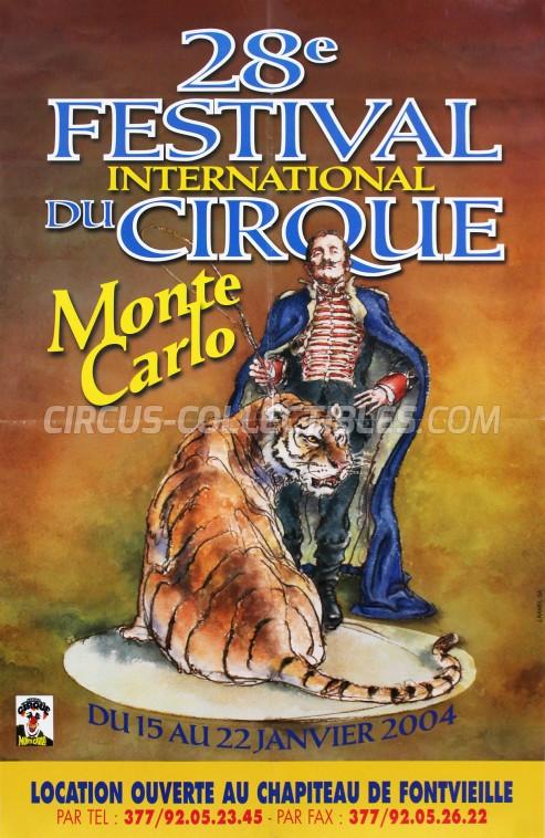 Festival International du Cirque de Monte-Carlo Circus Poster - Monaco, 2004