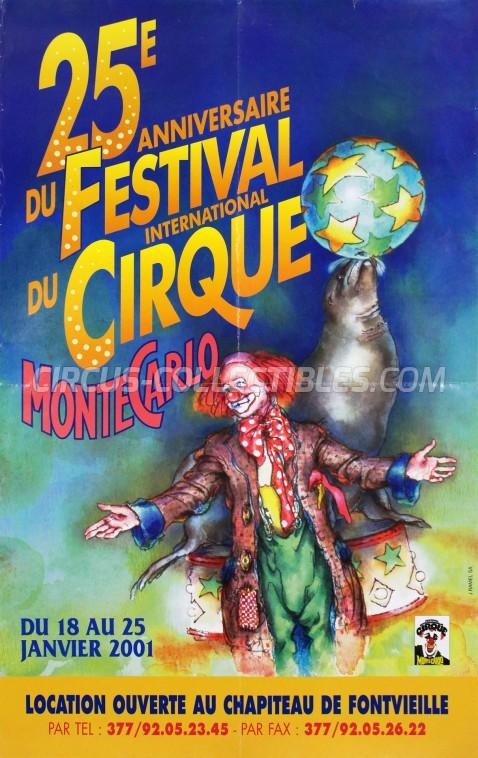 Festival International du Cirque de Monte-Carlo Circus Poster - Monaco, 2001