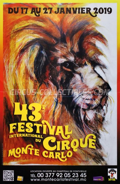 Festival International du Cirque de Monte-Carlo Circus Poster - Monaco, 2019