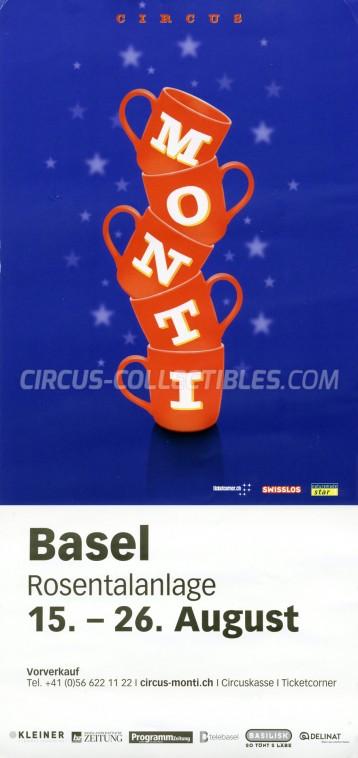 Monti Circus Poster - Switzerland, 2018