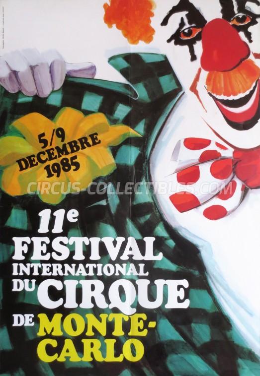 Festival International du Cirque de Monte-Carlo Circus Poster - Monaco, 1985