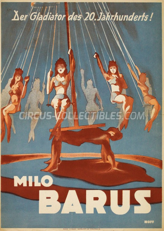Milo Barus Circus Poster - Germany, 1947