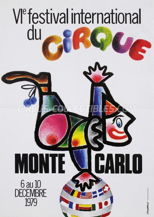 Festival International du Cirque de Monte-Carlo Circus Poster - Monaco, 1979