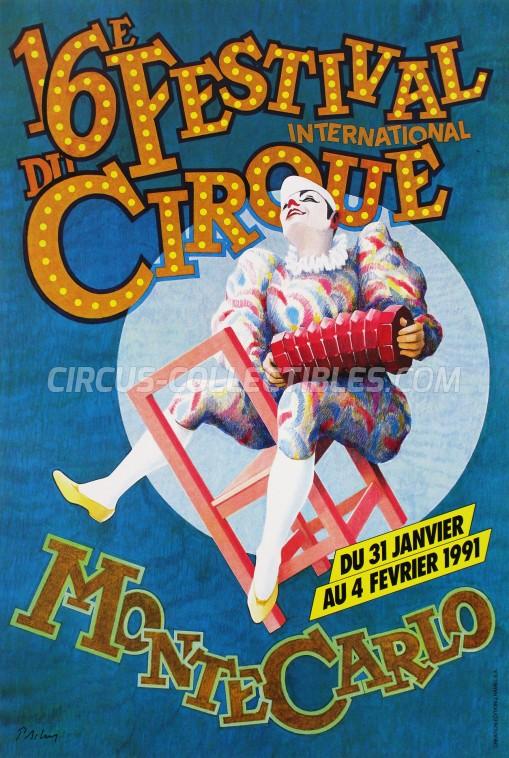 Festival International du Cirque de Monte-Carlo Circus Poster - Monaco, 1991
