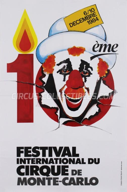 Festival International du Cirque de Monte-Carlo Circus Poster - Monaco, 1984