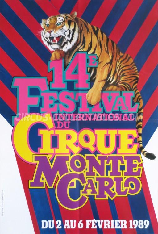 Festival International du Cirque de Monte-Carlo Circus Poster - Monaco, 1989